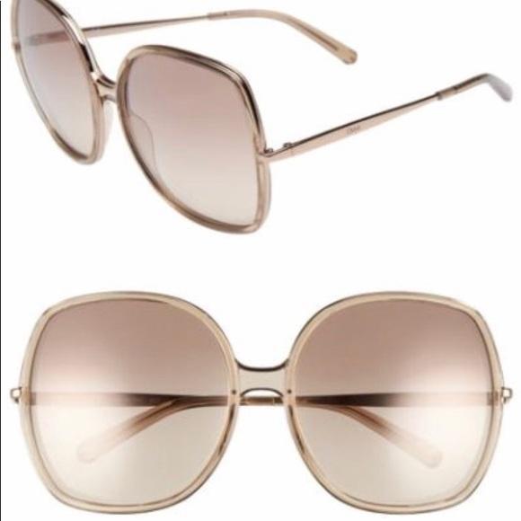 NWT Chloe 62mm oversized sunglasses